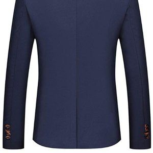 Mens Slim Fit Sport Coat Casual One Button